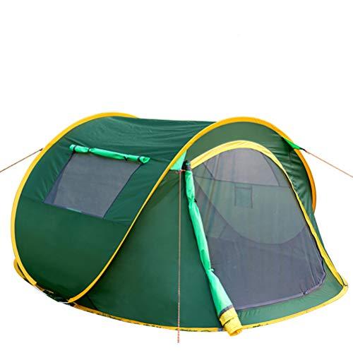 XYZLEO Tente Pop Up Pliable Tente De Camping Double Peau Pas Besoin De Construire 2 S Formant Tente 2 Personnes Poids LéGer ÉPaissir Tente De Camping éTanche Respirant Tente,Vert