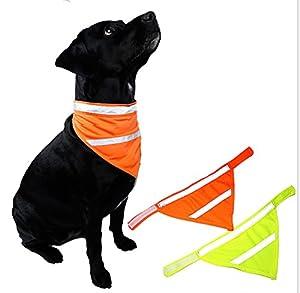 Fully 2couleurs Fluorescent Collier rigide Bib col Bandana collier bijoux Triangle collier pour chien chat