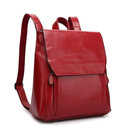 BAFEYU Leather Backpack Ladies Rucksack Casual College Daypack Satchel for Girls Laptop School Rucksack