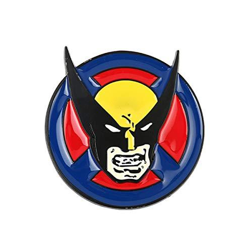 JiuErDP Fibbia Accessori Cintura Fibbia della Cintura 3pcs Wolverine Doppio Anello Fibbia Fumetto Fibbia Cintura Uomo Cinture (Color : #1, Size : 1.5in)