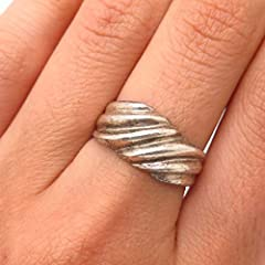 BEST 925 Sterling Silver!; Weight: 4,7 g Width : 10mm Bonus: an eBook with delicious recipes. If you have any questions about this or any other product from my inventory, please send me an email. We will always help you.