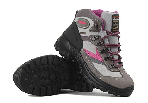 Grisport Damen Wanderschuhe Trekkingschuhe Grigio Scamosciato (40, beige-pink)