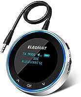 ELEGIANT Adapter Bluetooth 5.1 Audio 2 w 1 Nadajnik Odbiornik z wyświetlaczem OLED Nadajnik / odbiornik AUX / RCA o...