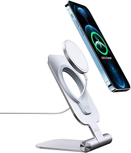 Nillkin mag-Safe Soporte para Cargador , Soporte Plegable para teléfono, Base de Montaje para Cargador mag-Safe Compatible con iPhone 12 Pro Max/12 Pro/12/12 Mini (no Incluye Cargador mag-Safe)