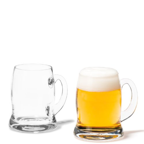 Leonardo Brauhaus Bier-Glas, handgefertigter Bier-Seidel, spülmaschinengeeigneter Bier-Humpen mit Henkel, 660 ml, 033501