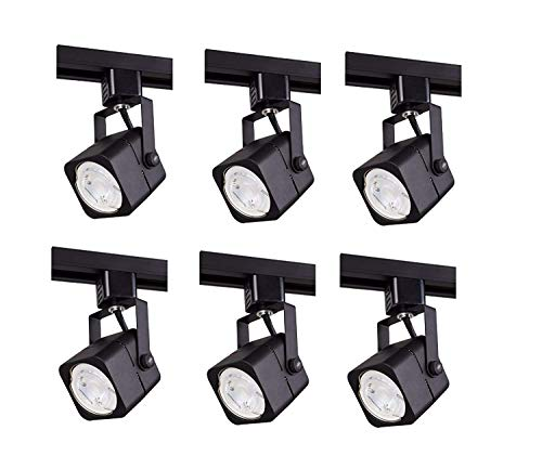 Track lighting heads, Laborate Lighting head light, kitchen light fixtures ceiling, (6, MATTE BLACK)