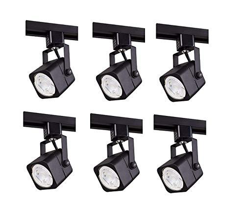 Track lighting heads, Laborate Lighting head light, kitchen light fixtures ceiling, (6, MATTE BLACK)
