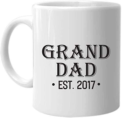 Not Applicable Grand Dad EST. 2017 - Taza de café La Mejor Idea de Regalo de cumpleaños para el día de Fiesta de Navidad para Hombres y Familiares