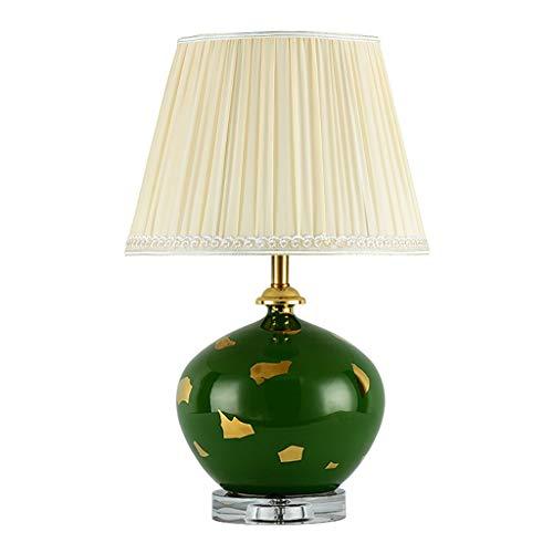 YI0877CHANG Lamparilla de Noche Iluminación de Interior Dormitorio lámpara de Mesa de Noche de la lámpara de cerámica de la Sala de Estudio lámpara de Mesa Lámpara Mesilla (Color : C)