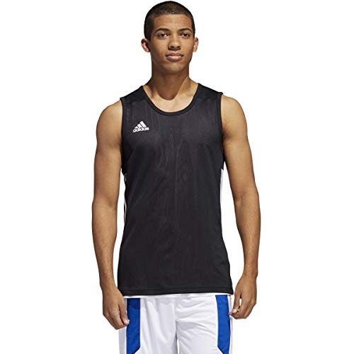 adidas 3G Speed Reversible Jersey-Men's Basketball XL Black/White