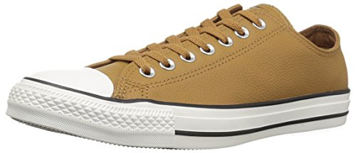 Converse Chuck Taylor All Star Tumbled Leather Low TOP Sneaker, Burnt Caramel/Burnt Caramel, 10 M US