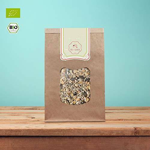 süssundclever.de® Bio Salat-Topping | mit Pinienkernen | 1 kg | unbehandelt | plastikfrei und ökologisch-nachhaltig abgepackt