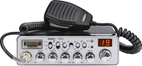 Uniden PC78LTX 40-Channel Trucker's CB Radio with Integrated SWR Meter, PA Function, Hi Cut, Mic/RF Gain, and Instant Channel 9,Silver. Buy it now for 83.64