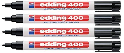 Edding Permanentmarker schwarz 400-01 (4er Pack)