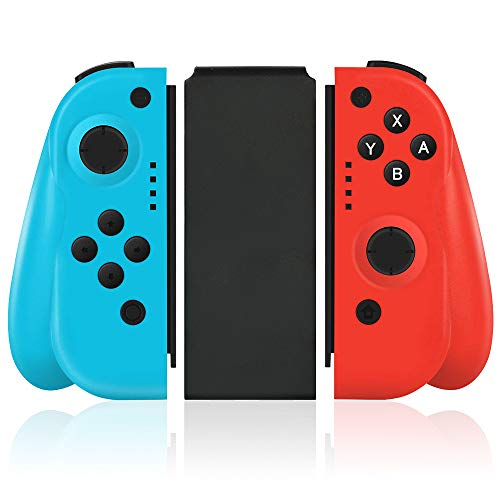Wireless Joy Pad Controller for Nintendo Switch, Replacement Joy Con with Redesigned Ergonomic Hand Grip Comfortable Joycon Handheld Gamepad Remote