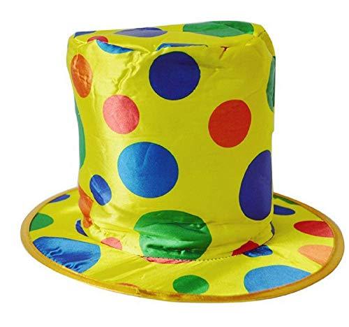 KIRALOVE Cappello da Clown - Pagliaccio - Saltinbanco - Costume - Travestimento - Carnevale - Halloween - Cosplay - Accessori - Uomo - Donna - Bambini - Modello 2