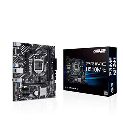 ASUS Prime H510M-E LGA1200 (Intel 11th 10th Gen) Micro-ATX Motherboard (PCIe 4.0,M.2 Slot, 1Gb LAN, DP,HDMI, D-Sub, USB 3.2 Gen 1, COM Header, TPM Header, 4K@60Hz)