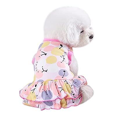 Amazon - 70% Off on Dog Shirt Cute Sleeveless Ruffle Hem Lovely Pet Dog Cat Dress Clothes Pink
