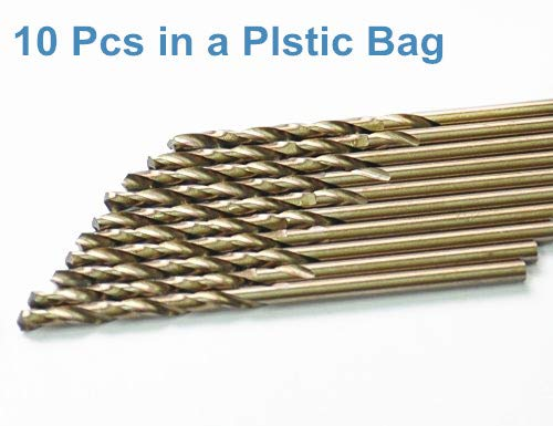 """Details about  /1//4/"""" Drill Bit HSS General Purpose Uncoated For Wood Metal Plastic 10 Pack"""
