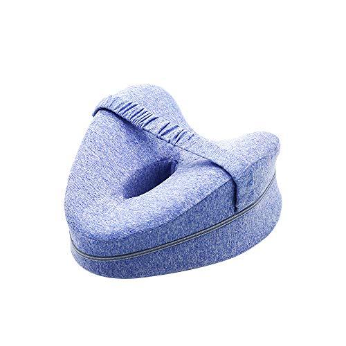 Almohada de espuma de memoria de la pierna y de la rodilla, cojín de soporte ortopédico, tela catiónica Alivio de dolor calmante para la ciática, espalda, caderas, rodillas, articulaciones y embarazo