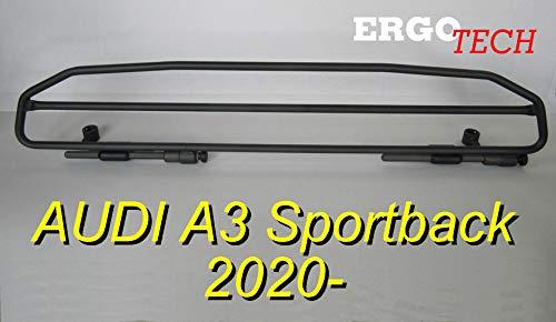 ERGOTECH Trenngitter Hundegitter kompatibel mit AUDI A3 Sportback, RDA65HBG-2HXXS, für Hunde und Gepäck.