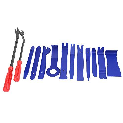 Cuque 13 piezas Auto Trim herramienta de extracción interior del coche tablero Radio Audio Panel de la puerta Clip de apertura Kit de herramientas con removedores de cierre