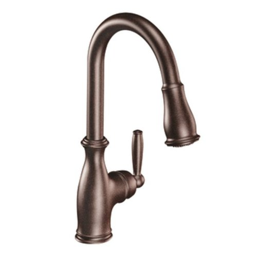 Moen 7185ORB Brantford One-Handle Pulldown Kitchen Faucet Featuring Power Boost and Reflex, Oil Rubbed Bronze