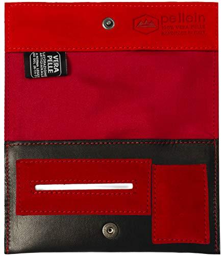 Pellein - Portatabacco in vera pelle Flaming - Astuccio porta tabacco, porta filtri, porta cartine e porta accendino. Handmade in Italy