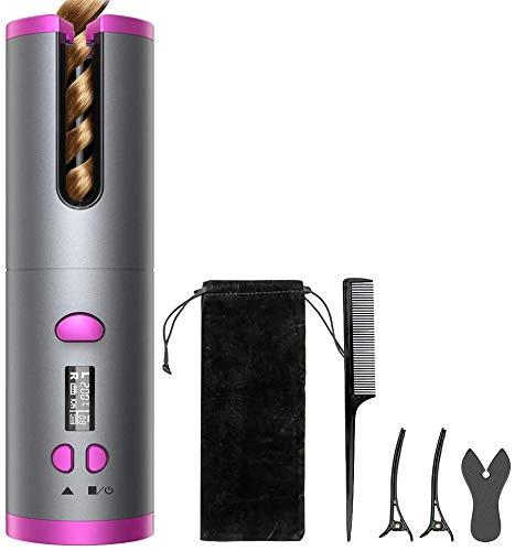 Automatischer Lockenstab,Auto Multifunktionaler Lockenwickler Air Curler Curl Magic Haar Lockenstab Salon Tools Haarlocker Batterie wiederaufladbarer Lockenwickler für Locken oder Wellen jederzeit