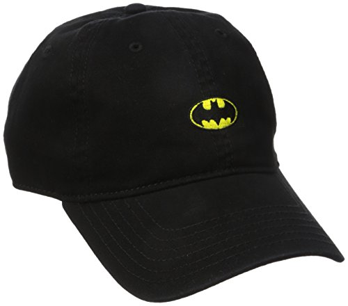 Concept One Men's Batman Washed Twill Baseball Cap, Black, One Size