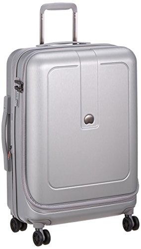 [デルセー] GRENEL スーツケース グレネル 無料受託 3~7泊 中型 5年保証 双輪キャスター トラックオープンタイプ 軽量 エキスパンダブル 本体底面内装生地洗濯可 保証付 55L 65 cm 3.9kg シルバー