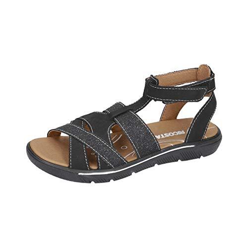 RICOSTA Mädchen Riemchensandalen JARA, Weite: Mittel (WMS), römer-Sandale Sandalette Gladiatoren-Sandale sommerschuh Kinder,schwarz,31 EU / 12 Child UK