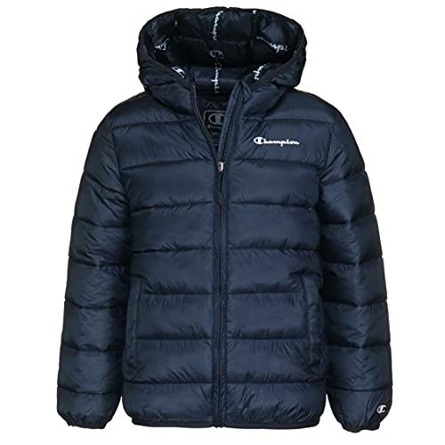 Champion Legacy Outdoor Hooded Jacket, Bleu Marine, 5-6 Ans Garçon