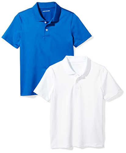 Amazon Essentials Boys Active Performance Polo Shirts, Royal...
