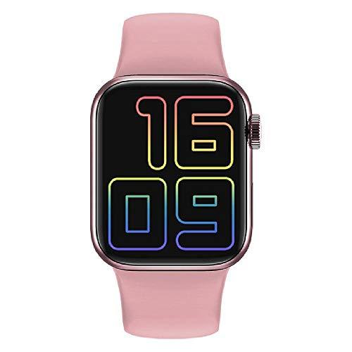 ZHAG Smart Watch 1.57 Pulgadas Pantalla Completa 40mm Bluetooth Llamada Long Long Standby Reloj Hombres Mujeres, Reloj Inteligente Llame a Bluetooth Pantalla táctil Completa,Pink