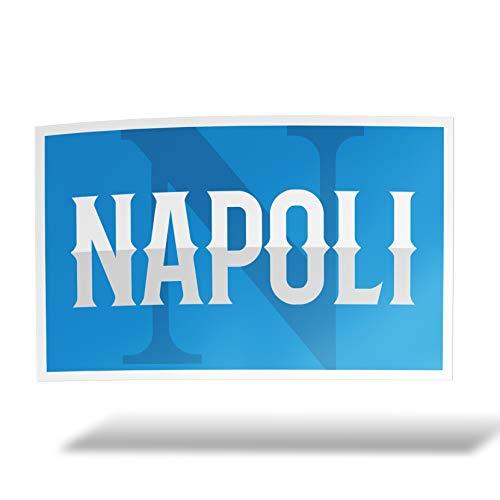 erreinge Aufkleber Napoli Ultras Supporter Shaped Adhesive PVC für Abziehbild Tapete Auto Moto Helm Camper Laptop - 10 cm
