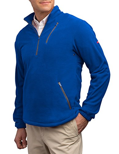 SCOTTeVEST Microfleece Pullover - 8 Pockets – Comfortable Travel Clothing BLU 2XL