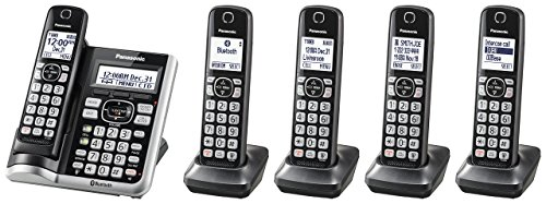 Panasonic KX-TGF575S Link2Cell BluetoothCordless Phone with Voice Assist and Answering Machine - 5 Handsets (Renewed)