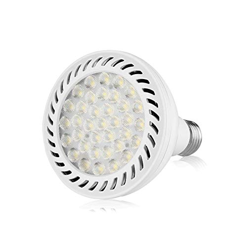 JIAN YA NA PAR30 LED Spot Light Bulb 350w Replacement (3200 Lumen) 36Watt E27 Medium Base Tracking Lighting 6000K White Body