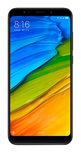 Xiaomi Redmi 5 Plus Smartphone da 5,99 pollici Full HD+, Snapdragon 625 1,8GHz, 3GB RAM, 32 GB ROM, 12MP Camera, Dual SIM, Nero [Italia]