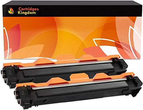 Cartridges Kingdom Pack de 2 Compatibles Cartuchos de Tóner XL para Brother DCP-1510, DCP-1512, DCP-1610W, DCP-1612W, HL-1110, HL-1112, HL-1210W, HL-1212W, MFC-1810, MFC-1910W [TN1050, 2000 páginas]
