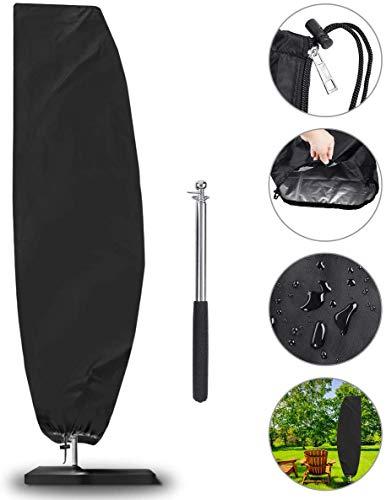 Funda Protectora de parasol, NASUM Cobertura Impermeable para Sombrillas(Diámetros 2-4m), Impermeable, Antipolvo, Resistente a los Rayos UV/Resistente a la Intemperie, (265 * 50 * 70 * 40cm)