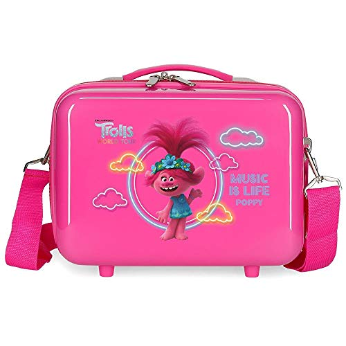 Trolls Music is Life Nececer Adaptable Rosa 29x21x15 cms ABS