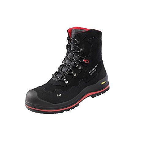 Lupriflex 1 Paar Anti Knick Sicherheitsschuhe, Sicherheitsstiefel, Sicherheits - Schnürfstiefel mit Umknickschutz, Wasserdicht, S3, Schuhweite 11,5 Schwarz Größe 41