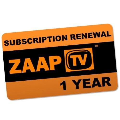 ZaapTV 1 Jahr Verlängerung für HD409N HD509N HD509N II CloodTV und Greek