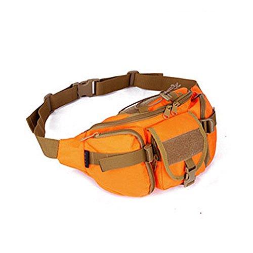 YAAGLE Armee Fans Outdoor Herren militärisch Brustbeutel wasserdicht Freizeit Hüfttasche Kuriertasche Reisetasche Fahrradrucksack Schultertasche -orange