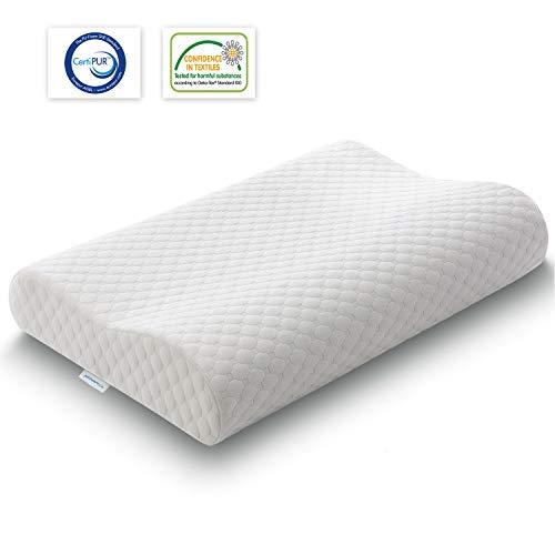 TAMPOR Orthopedic Contour Pillow Memory Foam Pillow Ergonomic Neck Support...