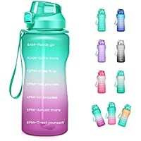 Giotto 100oz Leakproof Motivational Water Bottle with Time Marker & Straw, BPA Free (various colors)