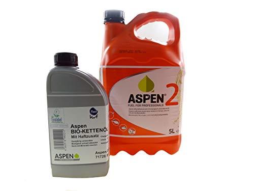 Aspen 5L 2-Takt Alkylatbenzin mit 1L Bio Kettenöl