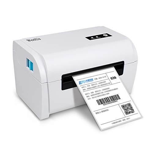 WeeiUs Shipping Label Printer, USB and Bluetooth, with Free Paper Holder, 4x6 & More Size, Support Windows MAC iPad iPhone Android Smart Phone, Compatible with Amazon Ebay UPS FedEx etc.